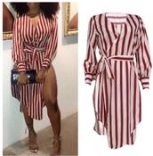 dress,red dress,stripes,white dress,red,white