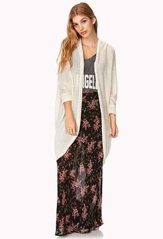 Draped Popcorn Knit Cardigan | FOREVER21 - 2000126550