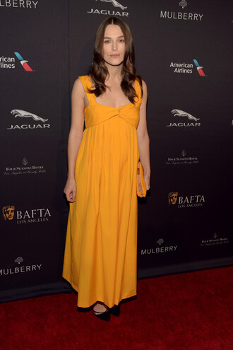 dress keira knightley orange dress maxi dress mustard
