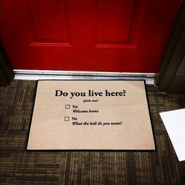 Jewels doormat funny cute weheartit life house flat for Welcome home front door mats