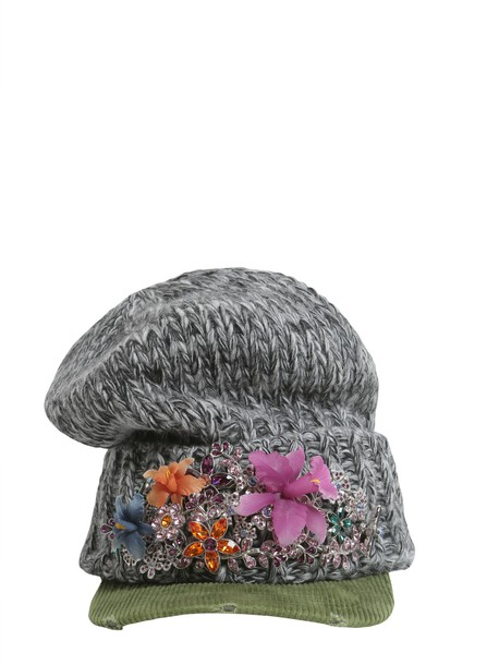 Dsquared2 beanie wool multicolor hat