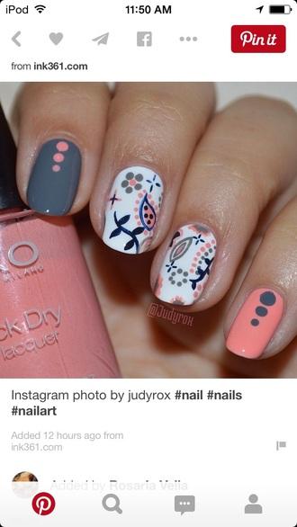 nail polish pink and gray gel nails pinterest