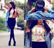 t-shirt,jacket,hat