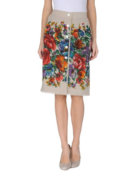 skirt floral floral skirt knee length skirt dolce and gabbana button skirt