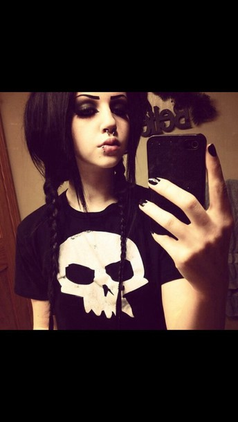 shirt skull t-shirt black t-shirt graphic tee grunge t-shirt grunge grunge top