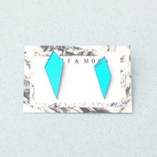 jewels,earrings,light blue,geometric