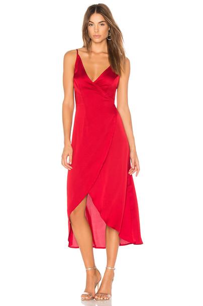 Somedays Lovin dress wrap dress sun red