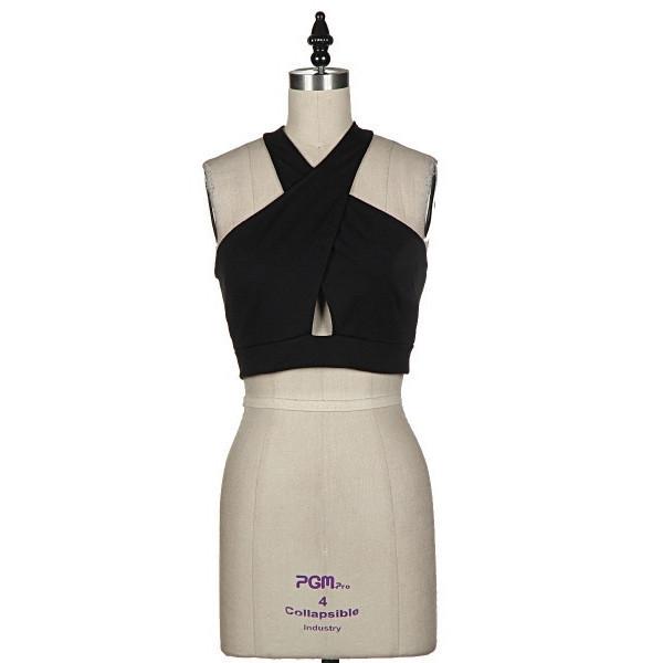 shirt wrap city crop top black makeup table vanity row dress to kill noir cross