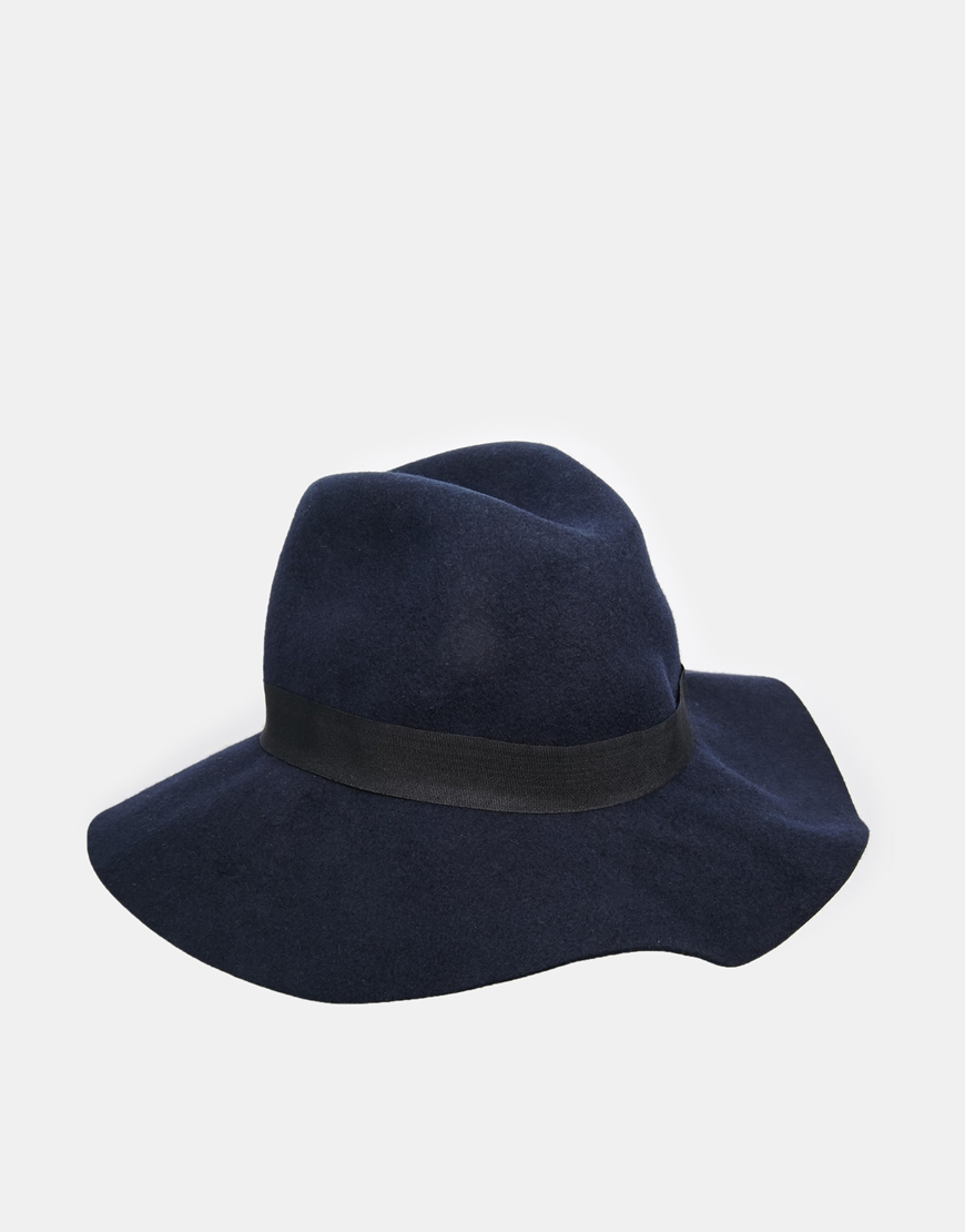 ASOS Felt Fedora Hat With Wide Band at asos.com