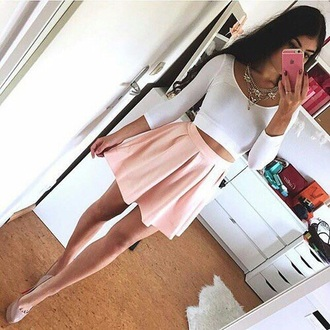 skirt pink cute cute outfits pretty nice