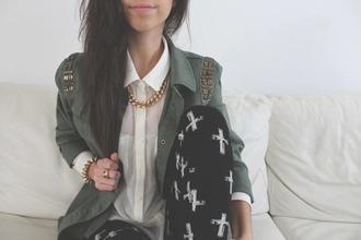jacket hipster grunge fashion leggings