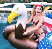 swimwear,miley cyrus,bikini,bikini top,bikini bottoms,celebrity,pool,pool party