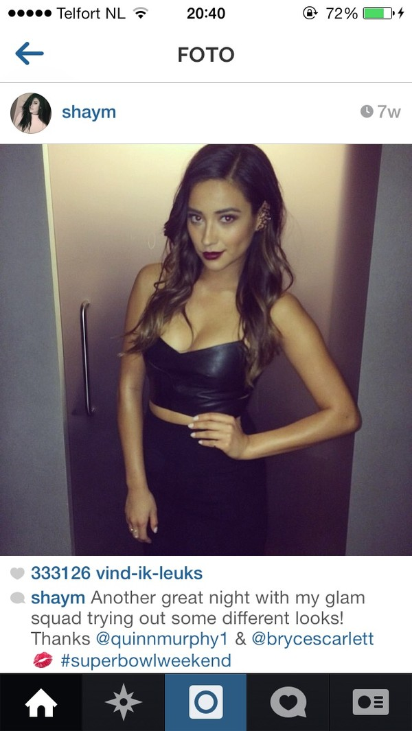 shirt top crop tops black crop top i need it it shay mitchell lovely black black outfit cute sexy party outfits beautiful leather leather crop top