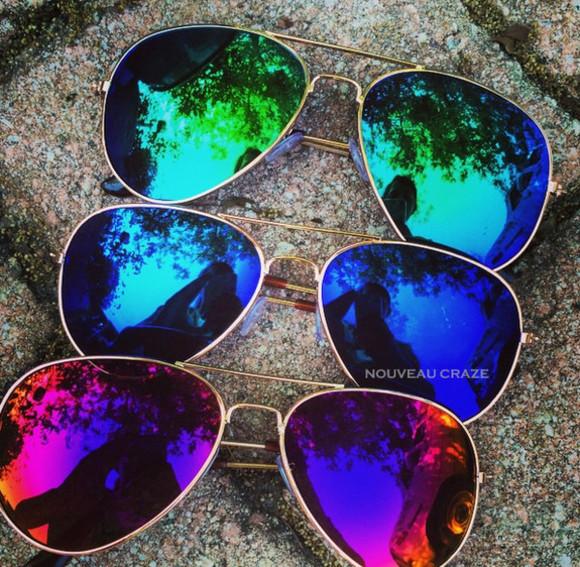 miami colorful rainbow style sunglasses mirror aviators colors green aviator sunglasses mirror chic los angeles blogger sunglasses