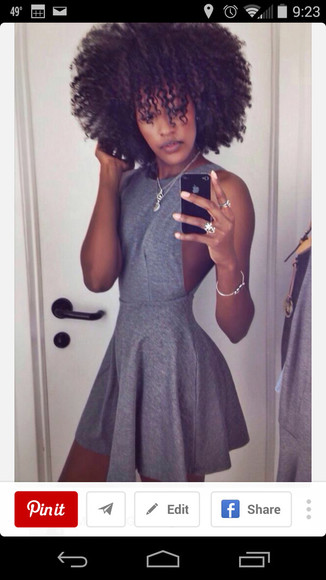 grey dress halter dress