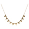 Club manhattan necklace textured triangle - welikefashion.com