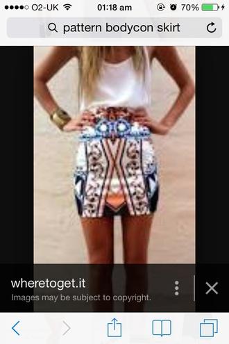 skirt blue skirt white skirt bodycon skirt short skirt