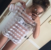 shirt,swimwear,top,mesh,see through top,see through bra,cover up,summer outfits,spring break,style,stylish,trendy,aesthetic,cute,triangl,color blocks,summer,tumblr,girl,cool,blogger,instagram,edgy,beach,soft grunge,pretty,women,gorgeous,swag,fashionista,chill,rad,white,on point clothing,t-shirt,white top,transparent shirt,see through,shirt dress,holidays,beautiful