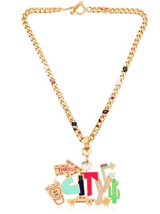 neon street necklace gold jewels