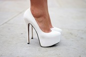 shoes,white,high heels