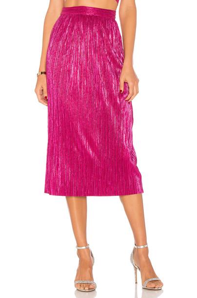 For Love & Lemons skirt midi skirt midi pink