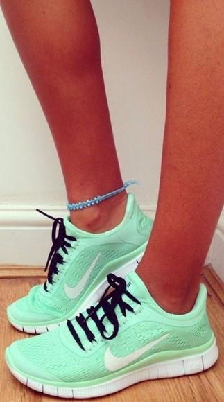 nike sneakers nike running shoes nike shoes shoes mint free run nike women running shoes turquoise
