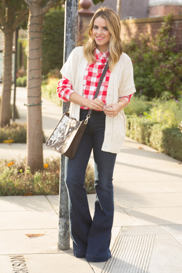 gal meets glam sweater shirt jeans bag shoes