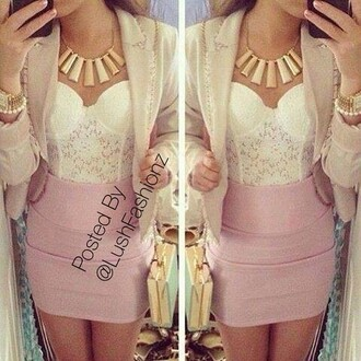 party party look skirt top