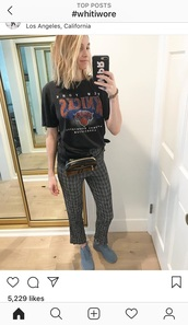 pants,whitney port,plaid,grey,plaid pants