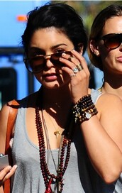 wood,brown jewels,bracelets,ring,necklace,vanessa hudgens,jewels,boho jewelry