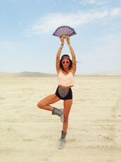 top,crop tops,white crop tops,heart sunglasses,short shorts,burningman pants,burning man,burning man clothing,burning man costume,festival,music festival
