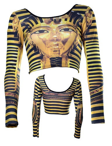 Walk Like an Egyptian Crop Top