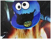 hat,coockie monster,blue,cap
