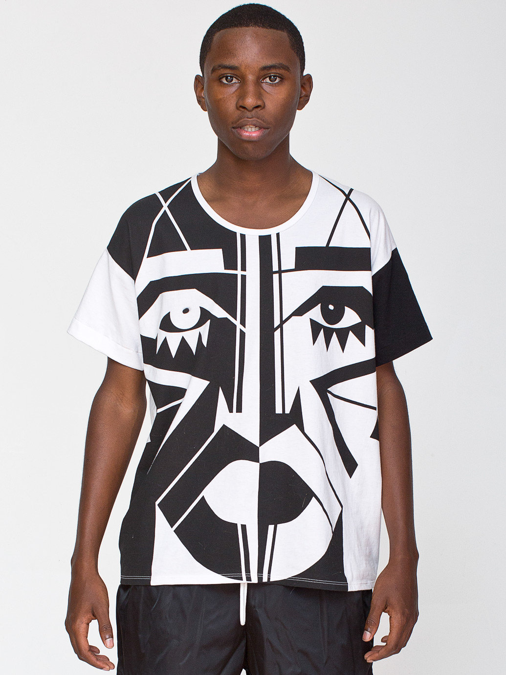 KESH X American Apparel Face Le New Big Tee | American Apparel