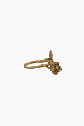 Aurélie Bidermann Gold Plated Majorelle Gardens Ring for women | SSENSE