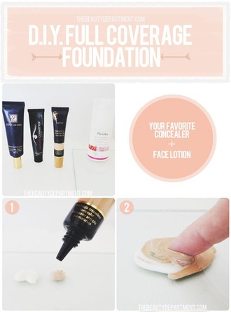 make-up beauty hacks foundation concealer
