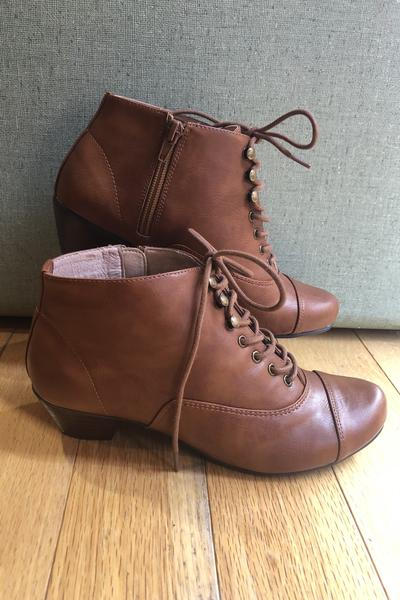 Pyramid Tan Bootie by Chelsea Crew