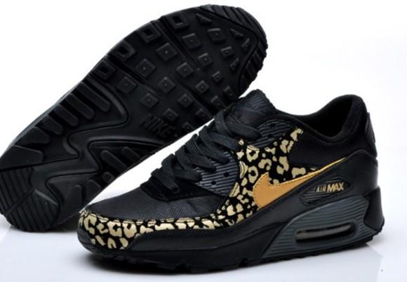 shoes metallic leopard print air max 90