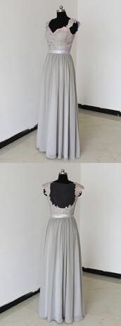 dress,silver long bridesmaid dress,prom dress,evening dress,party dress,long dress,homecoming dress