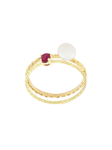 Wouters & Hendrix Gold women pearl gold yellow grey metallic jewels
