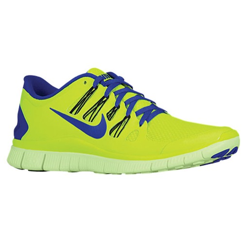 Nike Free 5.0  - Men's - Running - Shoes - Volt/Black/Barely Volt/Hyper Blue