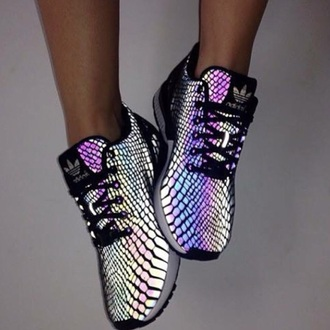 shoes adidas runners sneakers glow metallic adidas originals