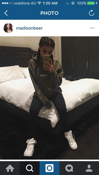jacket madison beer kylie jenner green baggy