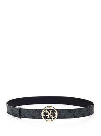 belt logo belt katlin black belt silver