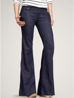 new wide leg trouser jeans (dark wash) | Gap