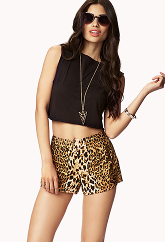 Leopard Print Shorts | FOREVER21 - 2047840075