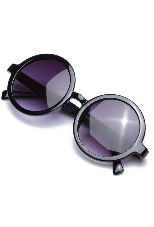 Full Fancy Plastic Frame Sunglasses