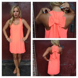 dress shoes coral dress bow short prettyback pink bow pink dress pink neon coral bow back dress orange bow tank dress bow tie dress neon pink bright orange dress