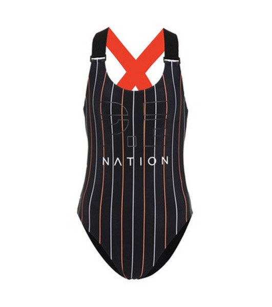 P.E Nation The West Port reversible swimsuit in black
