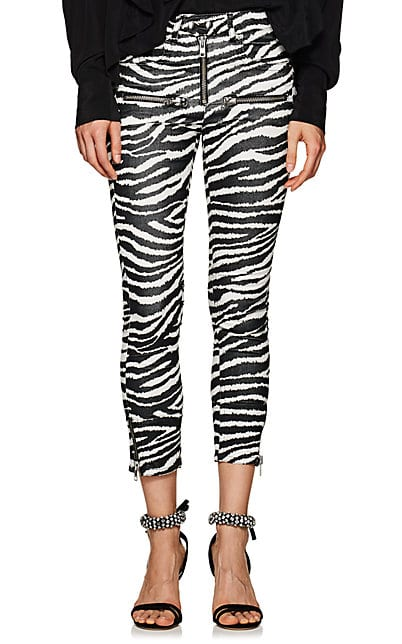 Isabel Marant Étoile Apolo Zebra-Print Flared Crop Pants | Barneys New York